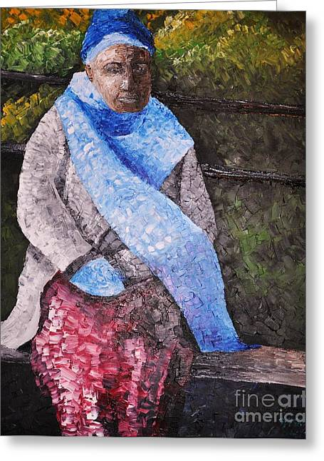 On A Cold Day Greeting Card by Reb Frost