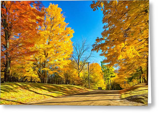 On A Country Road 6 - Paint Greeting Card by Steve Harrington