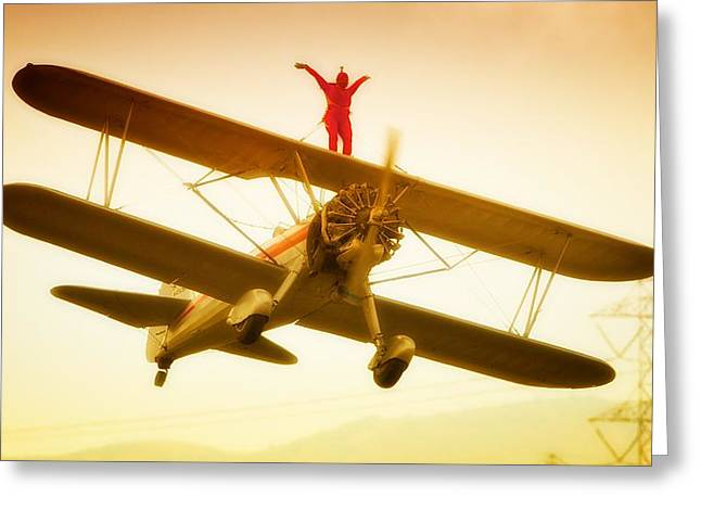 On A Wing And A Prayer-silverwings Greeting Card by Gus McCrea