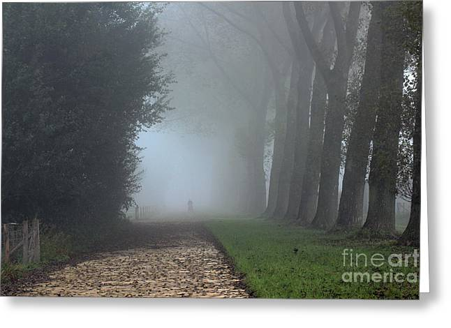 On An Autumn Day In The Mist Greeting Card