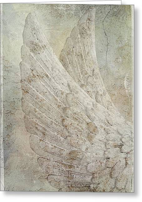 On Angels Wings 2 Greeting Card