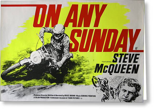 On any sunday greeting cards fine art america on any sunday steve mcqueen greeting card m4hsunfo