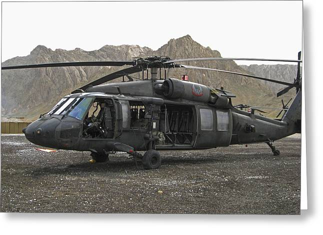 On Call Blackhawk In Afghanistan Greeting Card