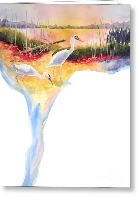 On Fire Greeting Card by Kathy Braud