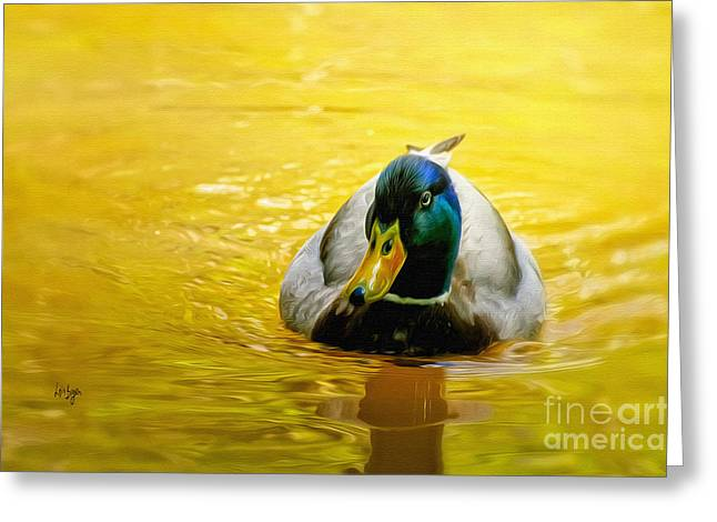 On Golden Pond Greeting Card by Lois Bryan