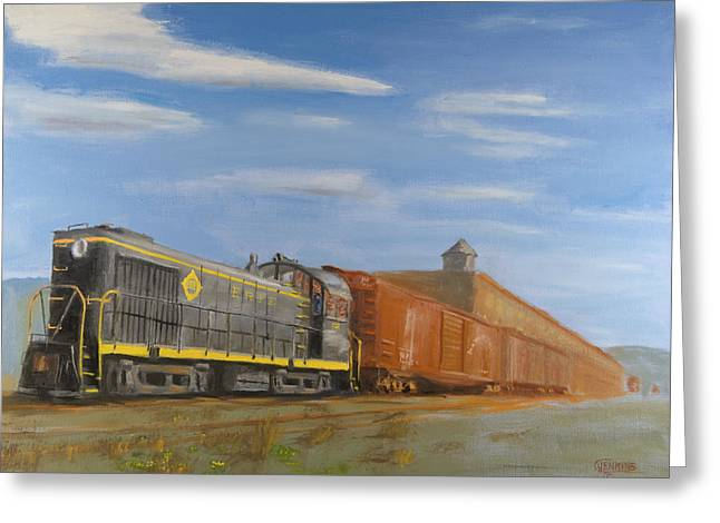 On Industry Track Greeting Card by Christopher Jenkins