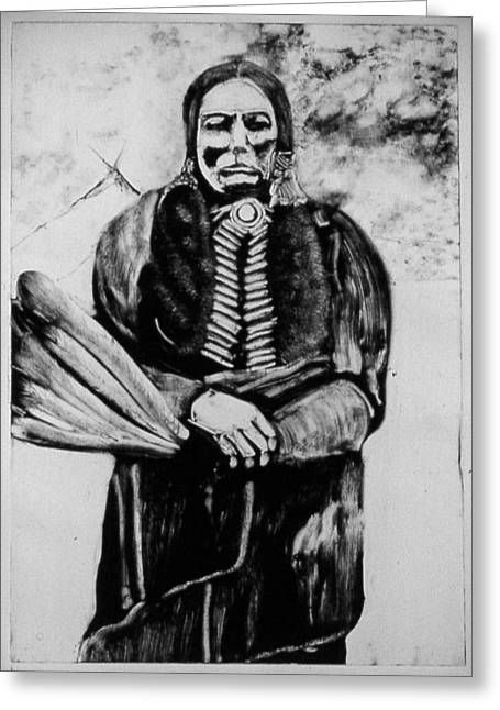 On Kiowa Reservation Greeting Card by Dan RiiS Grife