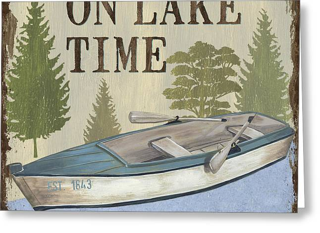 On Lake Time Greeting Card by Debbie DeWitt
