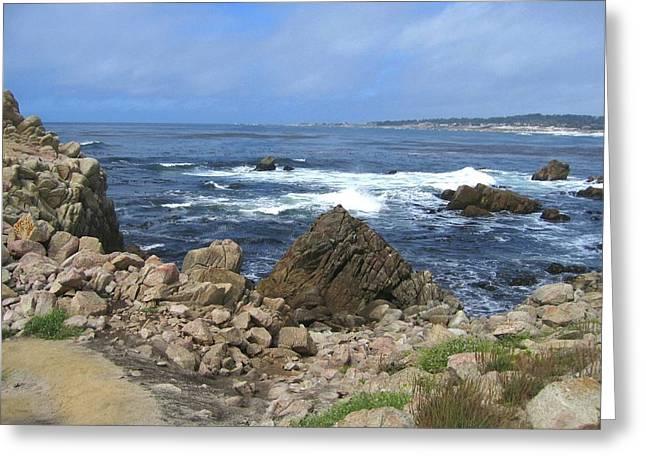On Monterey Bay Near Pebble Beach Greeting Card by Don Struke