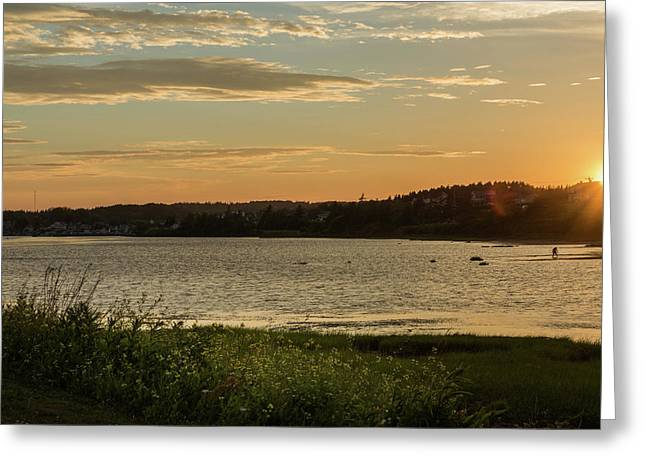 Greeting Card featuring the photograph On North Rustico Harbour by Chris Bordeleau