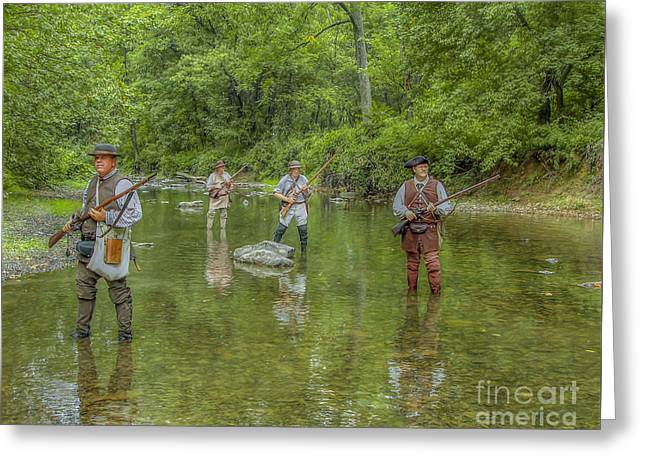 On Patrol With Wulff's Rangers Junita Crossing Greeting Card by Randy Steele