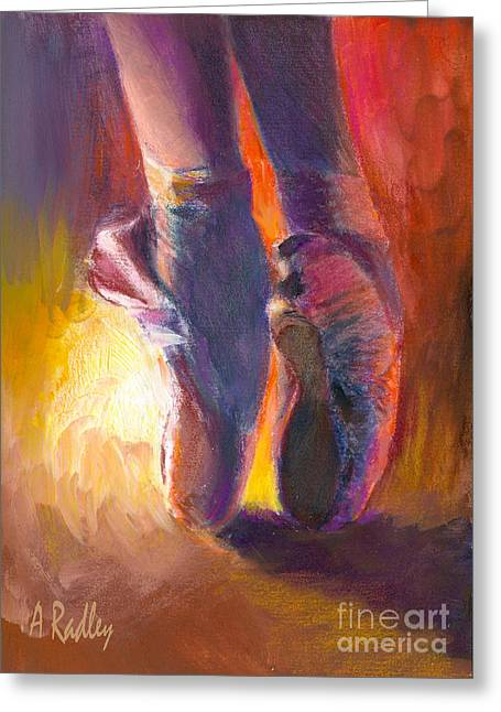 On Pointe At Sunrise Greeting Card by Ann Radley