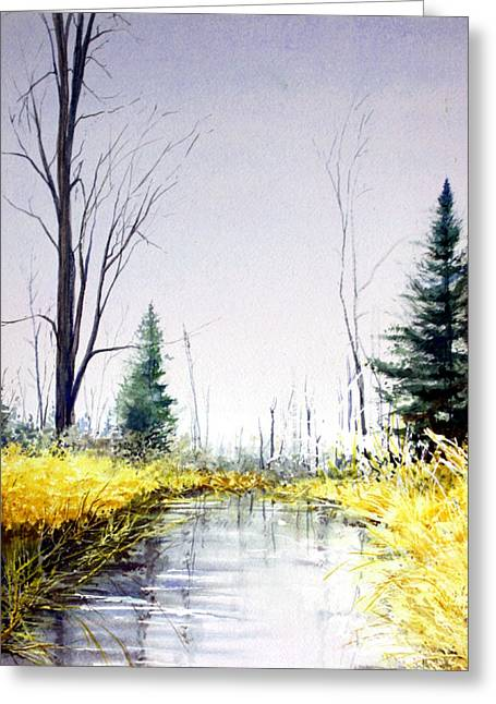 On Silver Pond Greeting Card