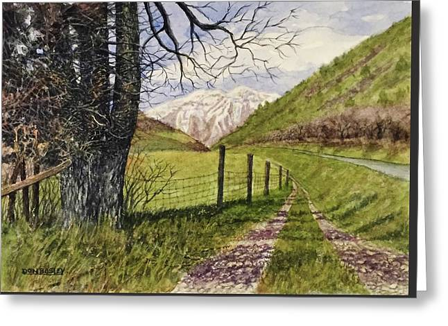 On South Fork Road Greeting Card by Don Bosley