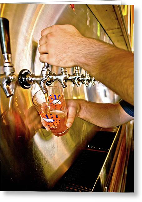 Greeting Card featuring the photograph On Tap by Linda Unger