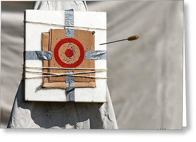 On Target Greeting Card by Christopher Holmes