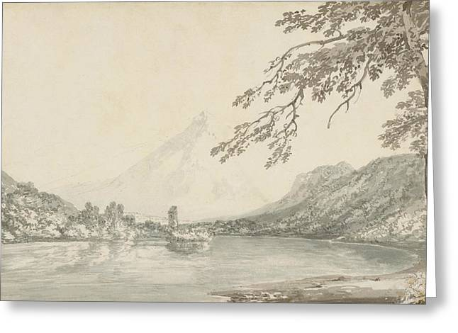 On The Aar Between Unterseen And Lake Of Brienz  Greeting Card by Joseph Mallord William Turner