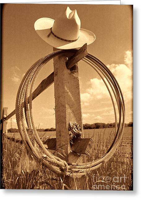 On The American Ranch Greeting Card