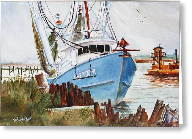 On The Back Bay Biloxi Greeting Card
