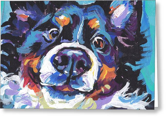 On The Back Berner Greeting Card by Lea S