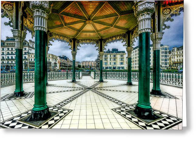 Greeting Card featuring the photograph On The Bandstand by Chris Lord
