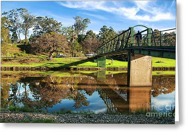 Greeting Card featuring the photograph On The Banks Of The River By Kaye Menner by Kaye Menner