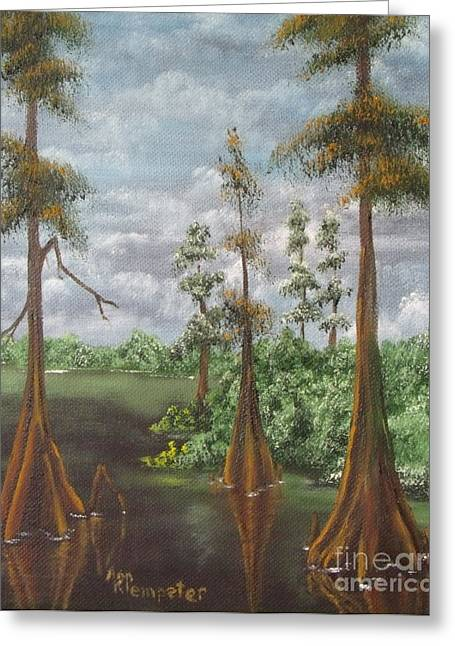 On The Bayou 2 Greeting Card by Ann Kleinpeter