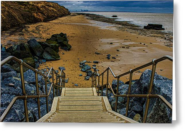 On The Beach Greeting Card by Martin Newman