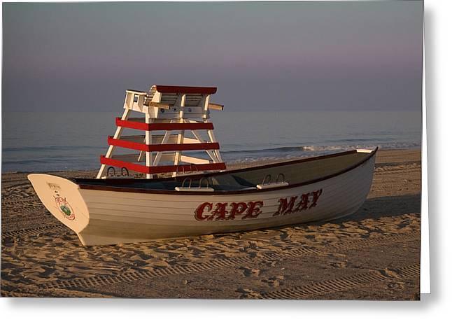 On The Beach Greeting Card by Robert Pilkington