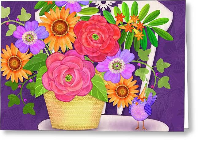 On The Bright Side - Flowers Of Faith Greeting Card