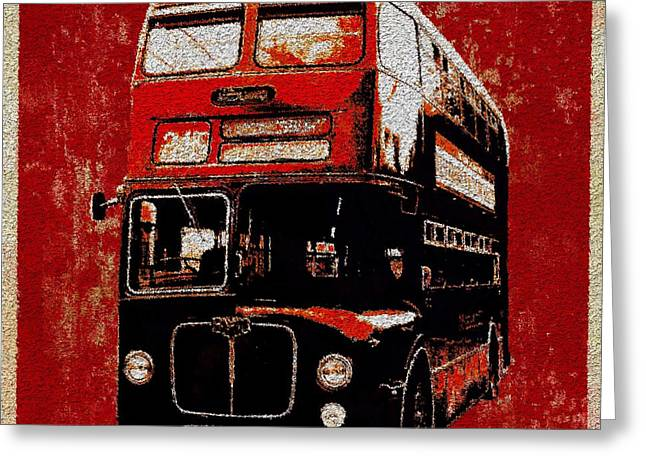 Greeting Card featuring the painting On The Bus by Mark Taylor