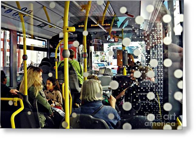 On The Bus Wiesbaden Greeting Card