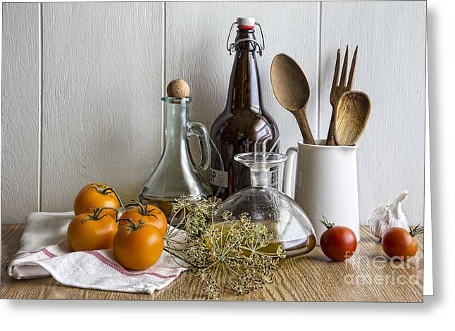 On The Countertop Greeting Card by Elena Nosyreva