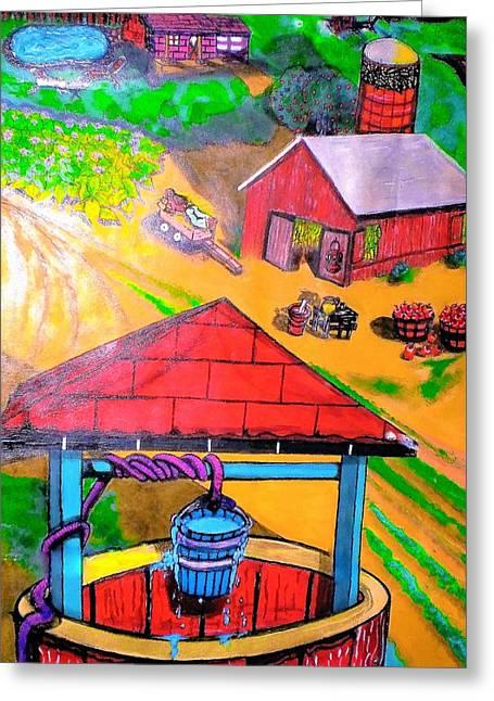 On The Farm Greeting Card by Anita Williams