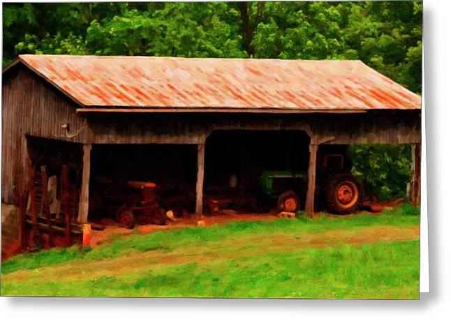 On The Farm Greeting Card by Chris Flees