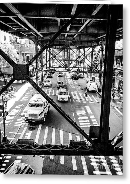 On The Go In Queens, Ny Greeting Card by JMerrickMedia