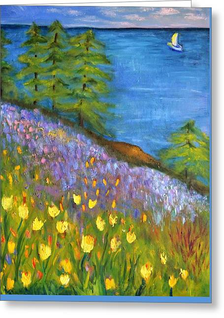 On The Hillside Greeting Card by Marla McPherson