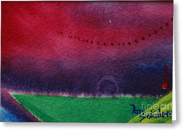 On The Horizon Greeting Card by Ann Sokolovich