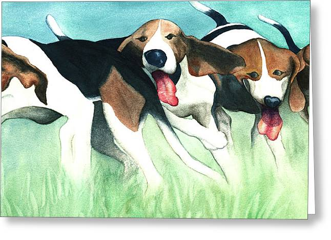 On-the-hunt Greeting Card by Anne Havard
