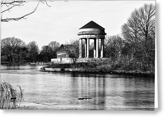 Franklin Roosevelt Digital Art Greeting Cards - On the Lake at FDR Park Greeting Card by Bill Cannon