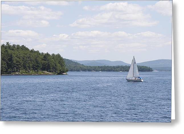 On The Lake Greeting Card by Paul Godin