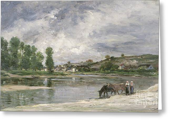 On The Loire, 1874 Greeting Card