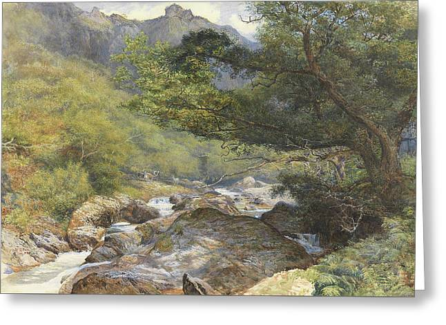 On The Lyn, North Devon Greeting Card by William Henry Millais