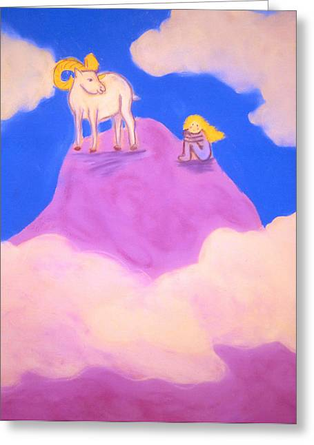 Playful Pastels Greeting Cards - On the Mountaintop Greeting Card by Christine Crosby