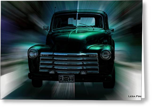 On The Move Truck Art Greeting Card