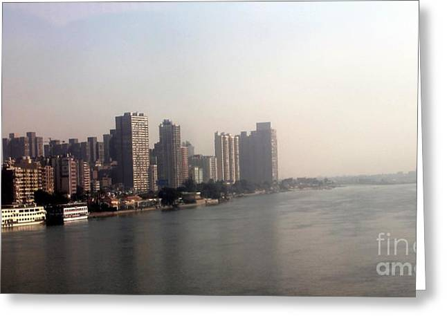 On The Nile River Greeting Card