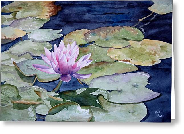 On The Pond Greeting Card by Bobbi Price