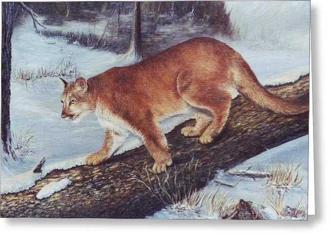 On The Prowl Greeting Card by Lynne Parker