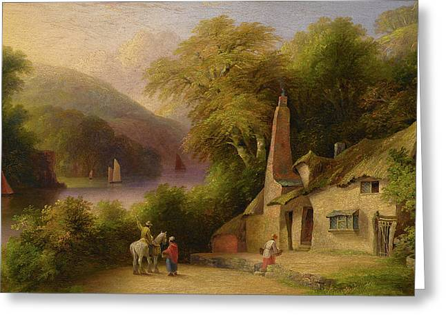 On The River Dart Between Totnes And Dartmouth Greeting Card by John Wallace Tucker