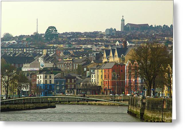 On The River Lee, Cork Ireland Greeting Card by Marie Leslie